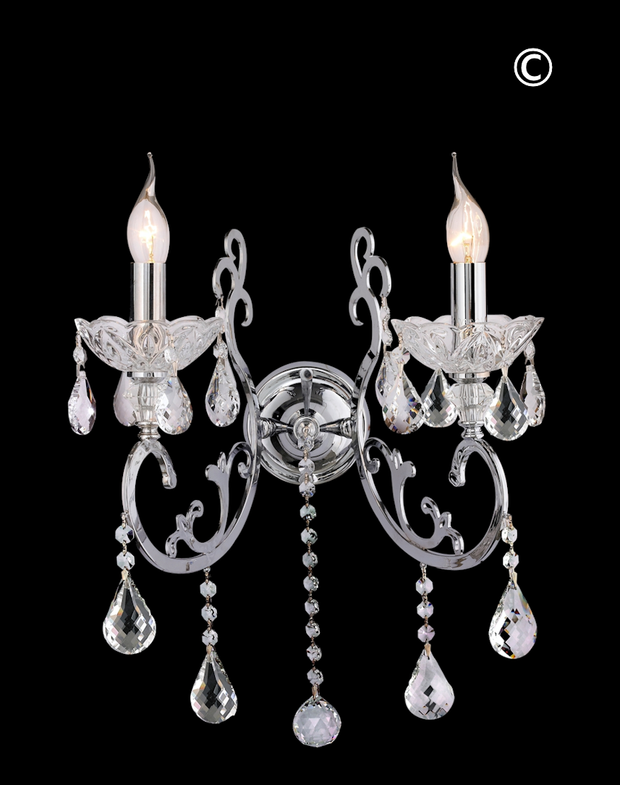 Elise Double Arm Wall Sconce - Designer Chandelier