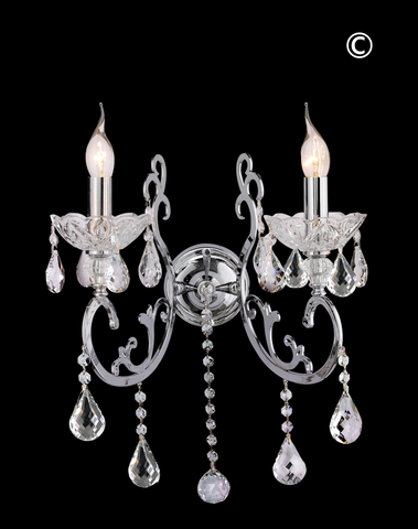 Elise Double Arm Wall Sconce-Designer Chandelier Australia