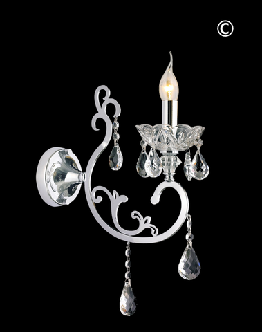 Elise Single Arm Wall Sconce - Designer Chandelier