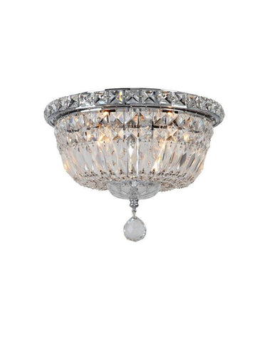 Empress Flush Mount Basket Chandelier - Chrome - W:25cm - Designer Chandelier