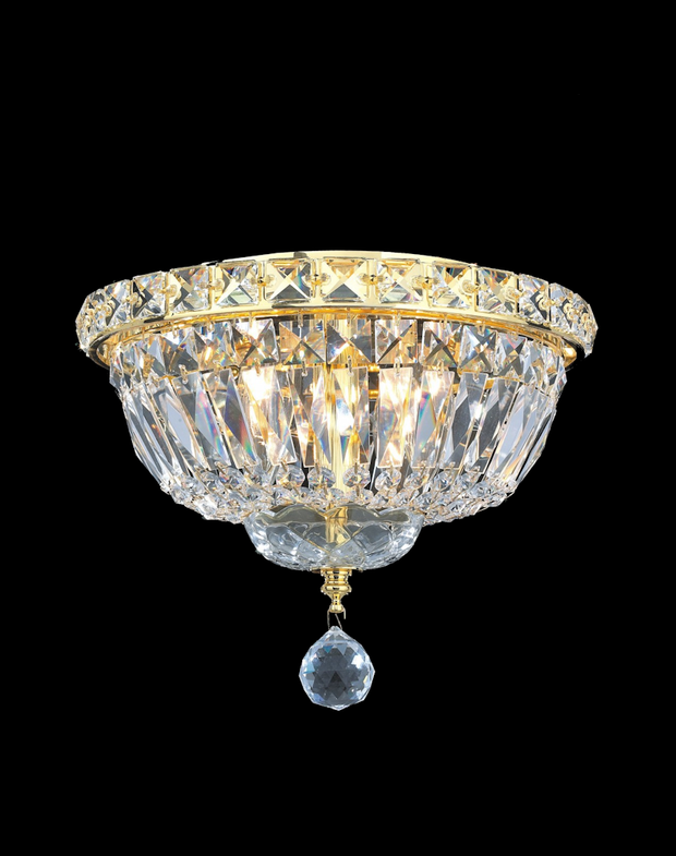 Empress Flush Mount Basket Chandelier - GOLD - W:25cm - Designer Chandelier