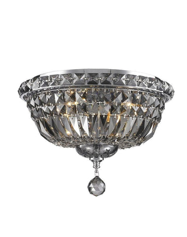 Empress Flush Mount Basket Chandelier - CHROME & SMOKE- W:35cm