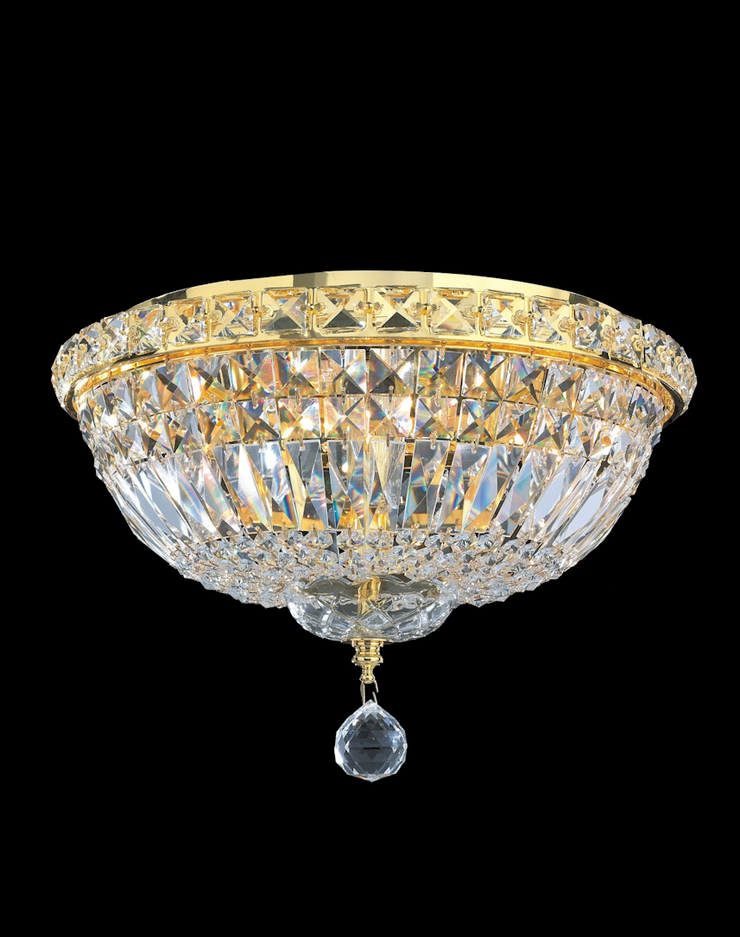Empress Flush Mount Basket Chandelier - GOLD - W:35cm - Designer Chandelier