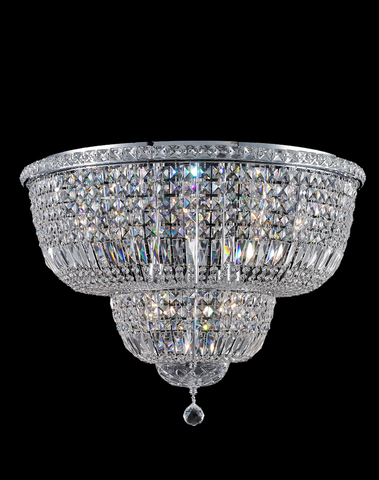 Empress Flush Mount Basket Chandelier - CHROME - W:70cm - Designer Chandelier