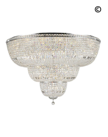 Empress Flush Mount Basket Chandelier - CHROME - Width:150cm - Designer Chandelier
