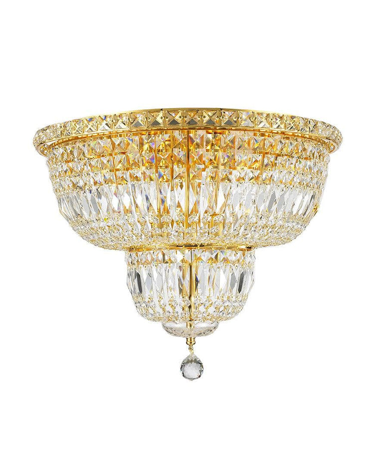 Empress Flush Mount Basket Chandelier - GOLD  - W:50cm - Designer Chandelier