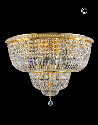 Empress Flush Mount Basket Chandelier - GOLD - W:70cm - Designer Chandelier