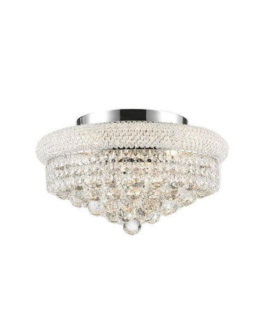 Royal Empress Flush Mount Basket Chandelier - Chrome - W:40cm - Designer Chandelier