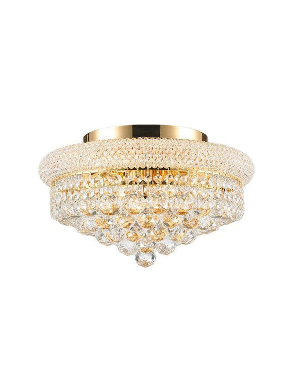 Royal Empress Flush Mount Basket Chandelier - GOLD - W:40cm - Designer Chandelier