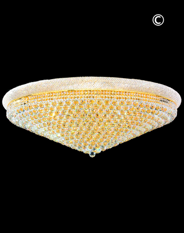 Royal Empress Flush Mount Basket Chandelier - Gold - W:120cm-Designer Chandelier Australia