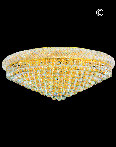 Royal Empress Flush Mount Basket Chandelier - GOLD - W:90cm-Designer Chandelier Australia