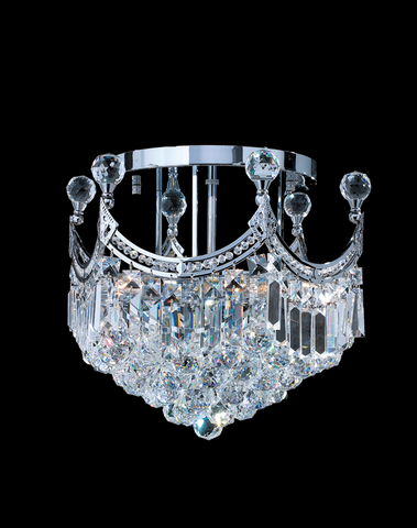 Royal Empire Flush Mount CHROME Basket Chandelier- W:40cm - Designer Chandelier
