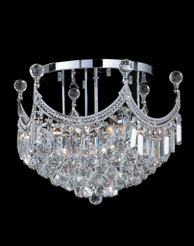 Royal Empire Flush Mount CHROME Basket Chandelier- W:50cm - Designer Chandelier