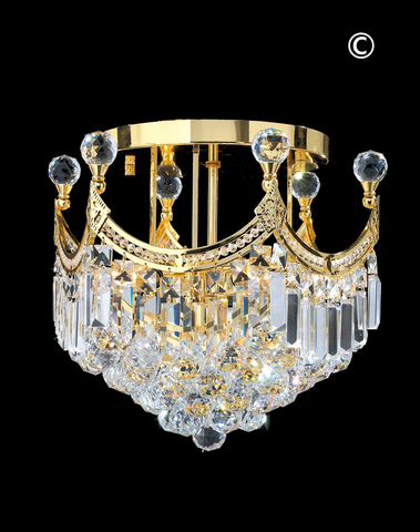 Royal Empire Flush Mount GOLD Basket Chandelier- W:40cm - Designer Chandelier
