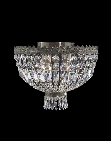 Royal French Basket Flush Mount Chandelier - Antique Bronze - W:40cm