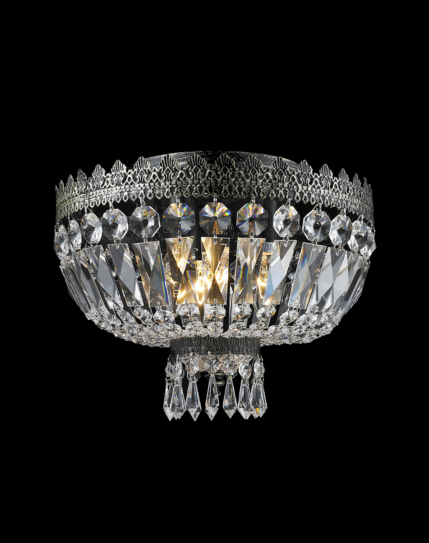 Royal french basket flush mount chandelier antique bronze w30cm royal french basket flush mount chandelier antique bronze w30cm designer chandelier arubaitofo Image collections