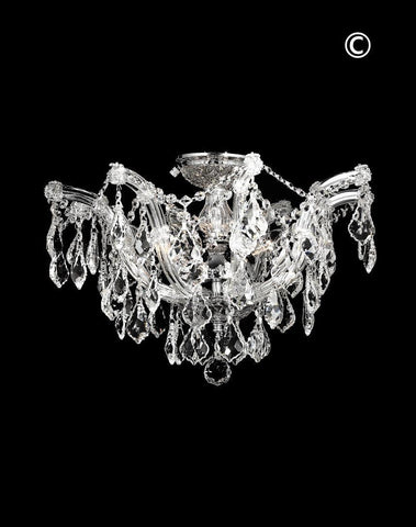 Maria Theresa Flush Mount Chandelier -  Chrome Finish - W:50cm