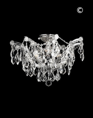 mount stores transitional flush ceilings of picture chandelier square lighting lights ceiling crystal brizzo polished chrome bossolo