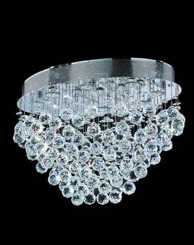 Oval Cluster LED Flush Mount Crystal Chandelier - Width:60cm Length:40cm Height:40cm - Designer Chandelier