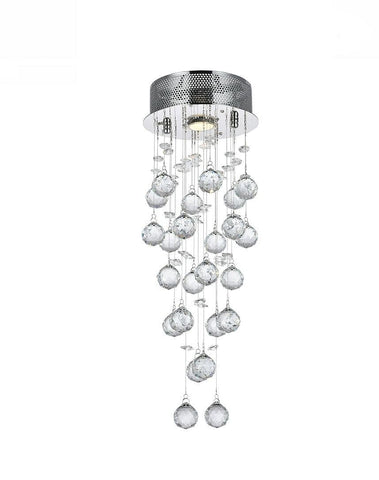 Round Cluster LED Crystal Chandelier - Width:20cm Height:60cm Round Cluster LED Crystal Chandelier - Width:20cm Height:60cm