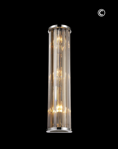 Odeon Wall Sconce- Golden Teak Crystal - H:60cm-Designer Chandelier Australia