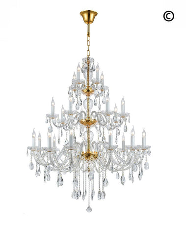 Bohemian Brilliance 24 Arm Crystal Chandelier- GOLD Bohemian Brilliance 24 Arm Crystal Chandelier- GOLD