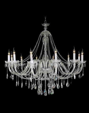 Bohemian Brilliance LARGE 12 Arm Single Tier Chandelier - Chrome-Designer Chandelier Australia