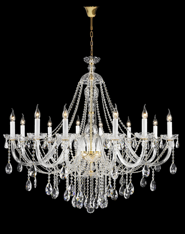 Bohemian Brilliance LARGE 12 Arm Single Tier Chandelier - GOLD-Designer Chandelier Australia