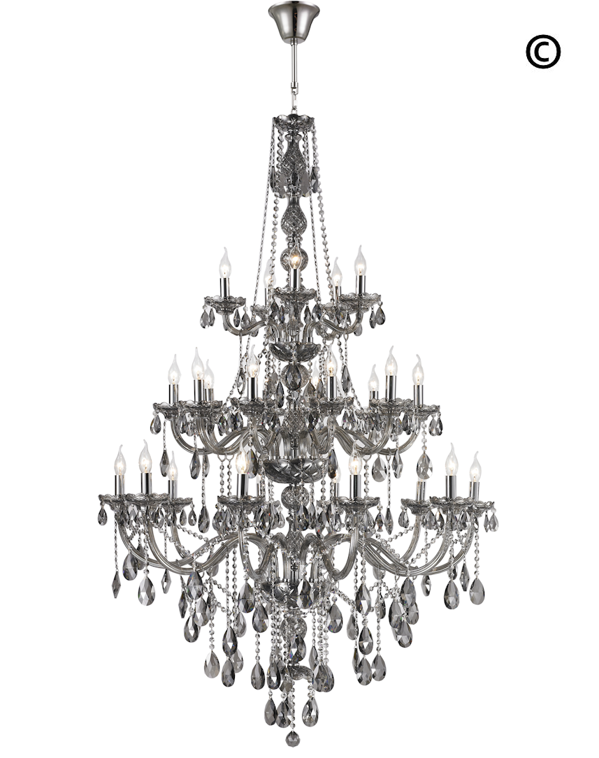 Bohemian elegance 25 light crystal chandelier smoke designer bohemian elegance 25 light crystal chandelier smoke designer chandelier australia aloadofball Image collections