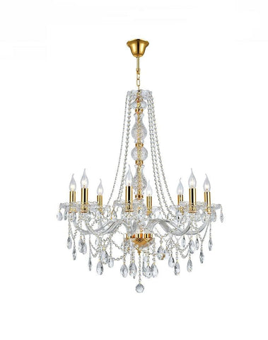 Bohemian Elegance 8 Light Crystal Chandelier- GOLD