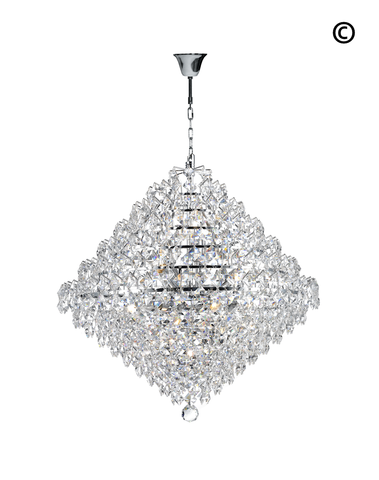 Diamond Edge - Chandelier Pendant Light - 60cm - Designer Chandelier