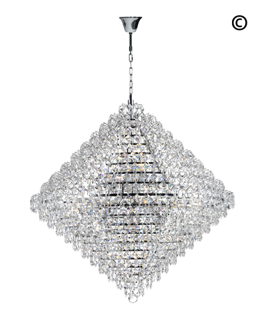 Diamond Edge - Chandelier Pendant Light - 90cm - Designer Chandelier