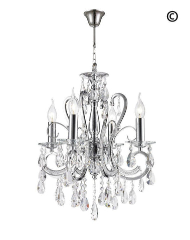 Designer Princess 4 Arm Chandelier - W:42cm - Designer Chandelier