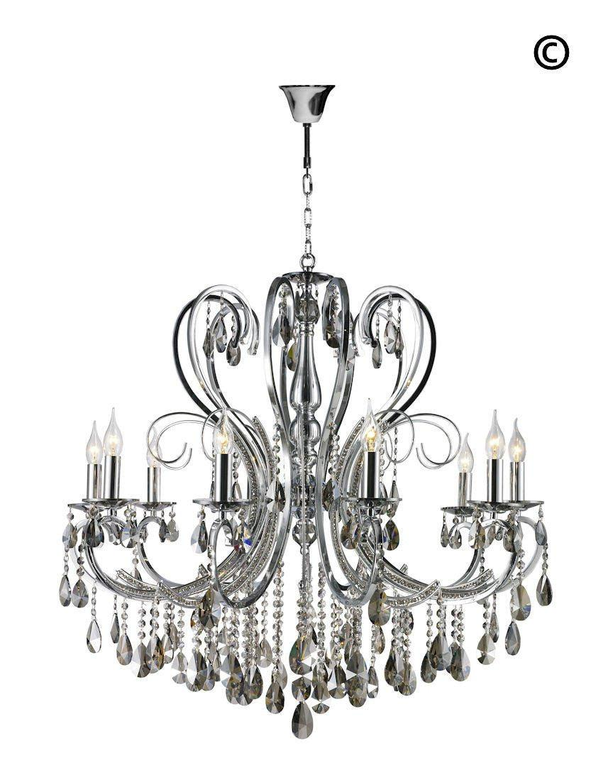 Newyork princess 10 arm chandelier smoke w90 designer designer princess 10 arm chandelier smoke w90 designer chandelier aloadofball Image collections