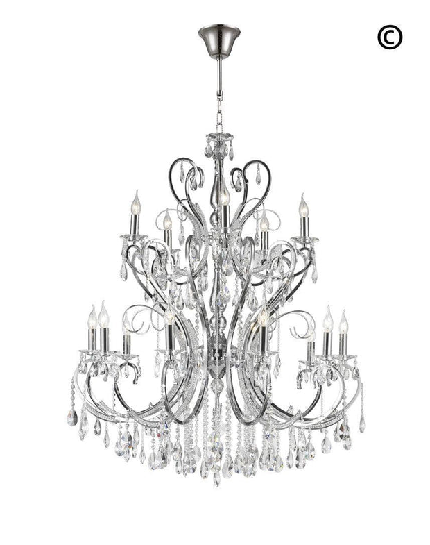 Designer Princess 15 Arm Chandelier -  W:100 H:130cm - Designer Chandelier
