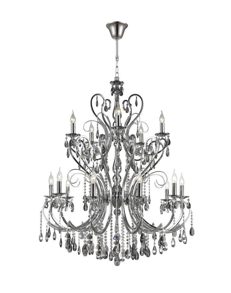 Designer Princess 15 Arm Chandelier -  Smoke - W:100 H:130cm - Designer Chandelier