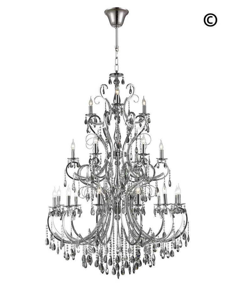Designer Princess 21 Arm Chandelier -  Smoke - W:120 H:170cm - Designer Chandelier