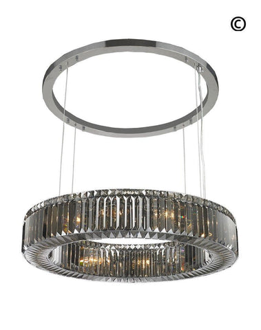Crystocia Halo Chandelier - Smoke Finish - 80cm  Crystocia Halo Chandelier - Smoke Finish - 80cm
