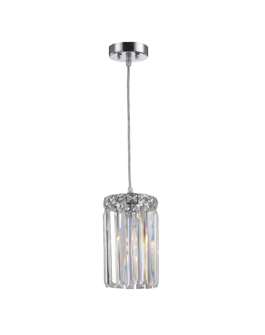 Modular Single Light Pendant - Round - Height 20cm - Chrome Fixtures-Designer Chandelier Australia