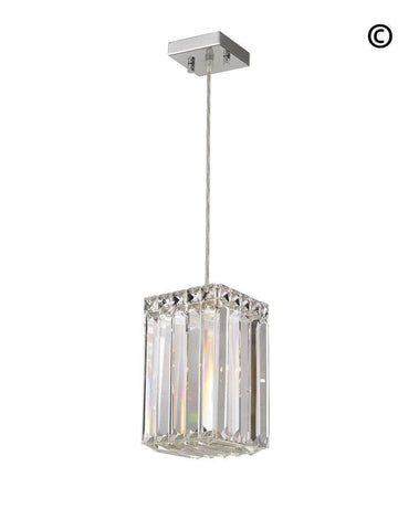 Modular Single Light Pendant - Square - Chrome Fixtures