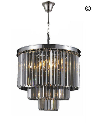 NewYork Oasis Chandelier- 3 Layer - Smoke Finish - W:50cm-Designer Chandelier Australia NewYork Oasis Chandelier- 3 Layer - Smoke Finish - W:50cm-Designer Chandelier Australia