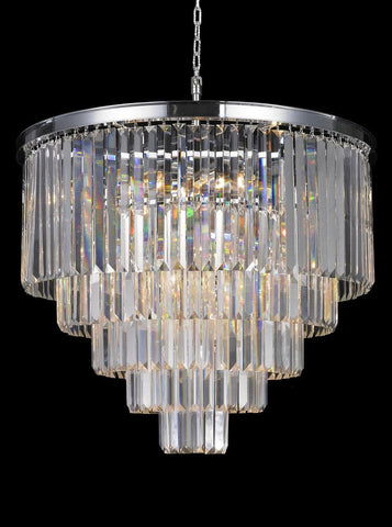 Odeon Chandelier- 5 Layer - Clear Finish - W:70cm-Designer Chandelier Australia