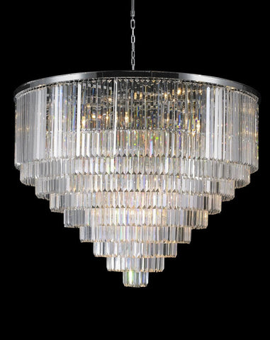 Odeon Chandelier- Large 9 Layer - Clear  Finish - W:130cm