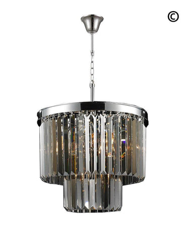 NewYork Oasis Chandelier- 2 Layer - Smoke Finish - W:40cm-Designer Chandelier Australia NewYork Oasis Chandelier- 2 Layer - Smoke Finish - W:40cm-Designer Chandelier Australia