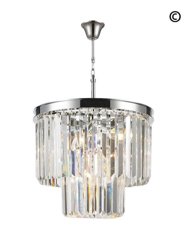 NewYork Oasis Chandelier- 2 Layer - Clear Finish - W:40cm-Designer Chandelier Australia NewYork Oasis Chandelier- 2 Layer - Clear Finish - W:40cm-Designer Chandelier Australia