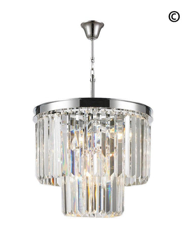 NewYork Oasis Chandelier- 2 Layer - Clear Finish - W:40cm - Designer Chandelier  NewYork Oasis Chandelier- 2 Layer - Clear Finish - W:40cm - Designer Chandelier