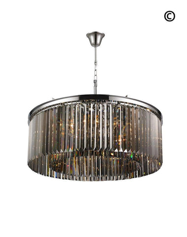Odeon Open Ring Chandelier- Smoke Finish W:80cm Odeon Open Ring Chandelier- Smoke Finish W:80cm