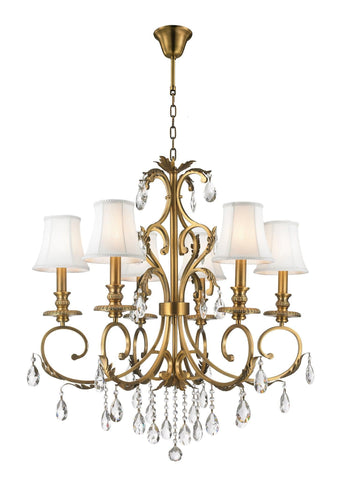 ARIA - Hampton 6 Arm Chandelier - Brass - Designer Chandelier