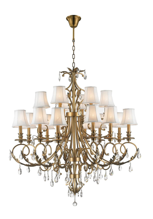 ARIA - Hampton 18 Arm Chandelier - Brass - Designer Chandelier