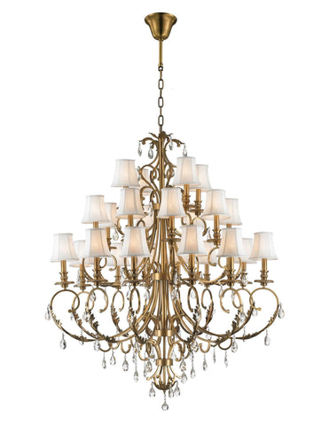 ARIA - Hampton 24 Arm Chandelier - Brass